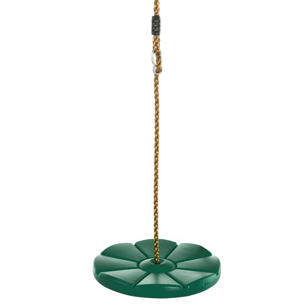 Mint Green Cool Disc Swing with Adjustable Rope-Fully Assembled