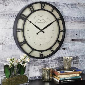 FirsTime 18 inch Round Kensington Whisper Wall Clock by FirsTime