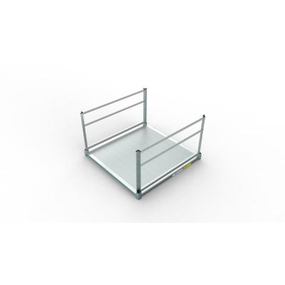 PATHWAY 3G 5 ft. x 5 ft. Solid Aluminum Platform with 2-Line Handrails