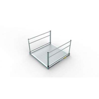 PATHWAY 3G Solo 5 ft. x 5 ft. Solid Aluminum Platform with 2-Line Handrails