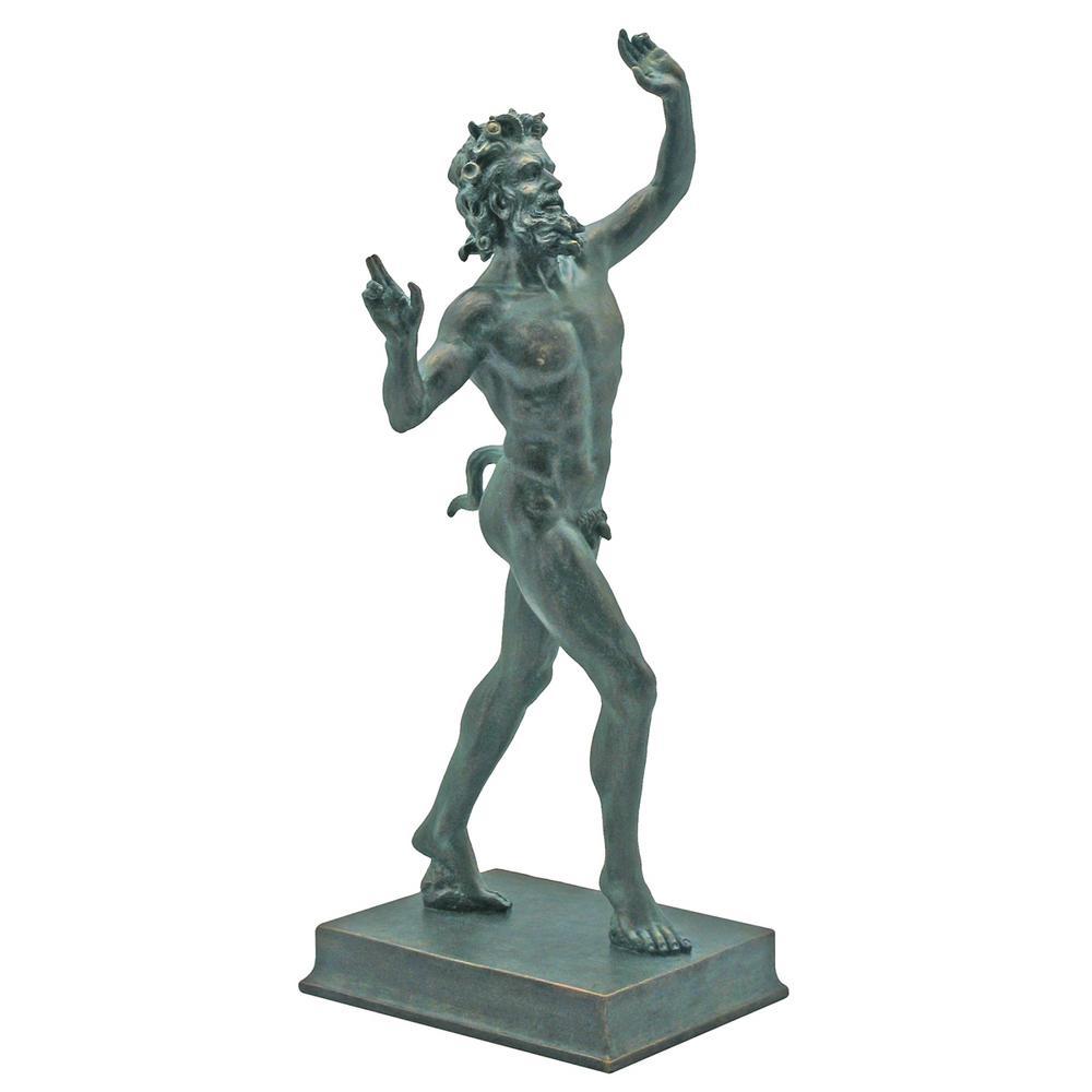 10.5 in. H Dancing Faunus of Pompeii Large Garden Statue