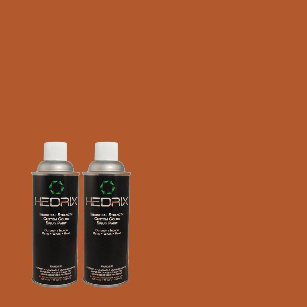 Hedrix 11 oz. Match of S-H-240 Falling Leaves Gloss Custom Spray Paint (2-Pack)