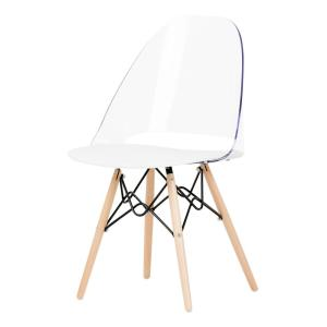 Astonishing South Shore Annexe Clear And White Eiffel Style Office Chair Machost Co Dining Chair Design Ideas Machostcouk