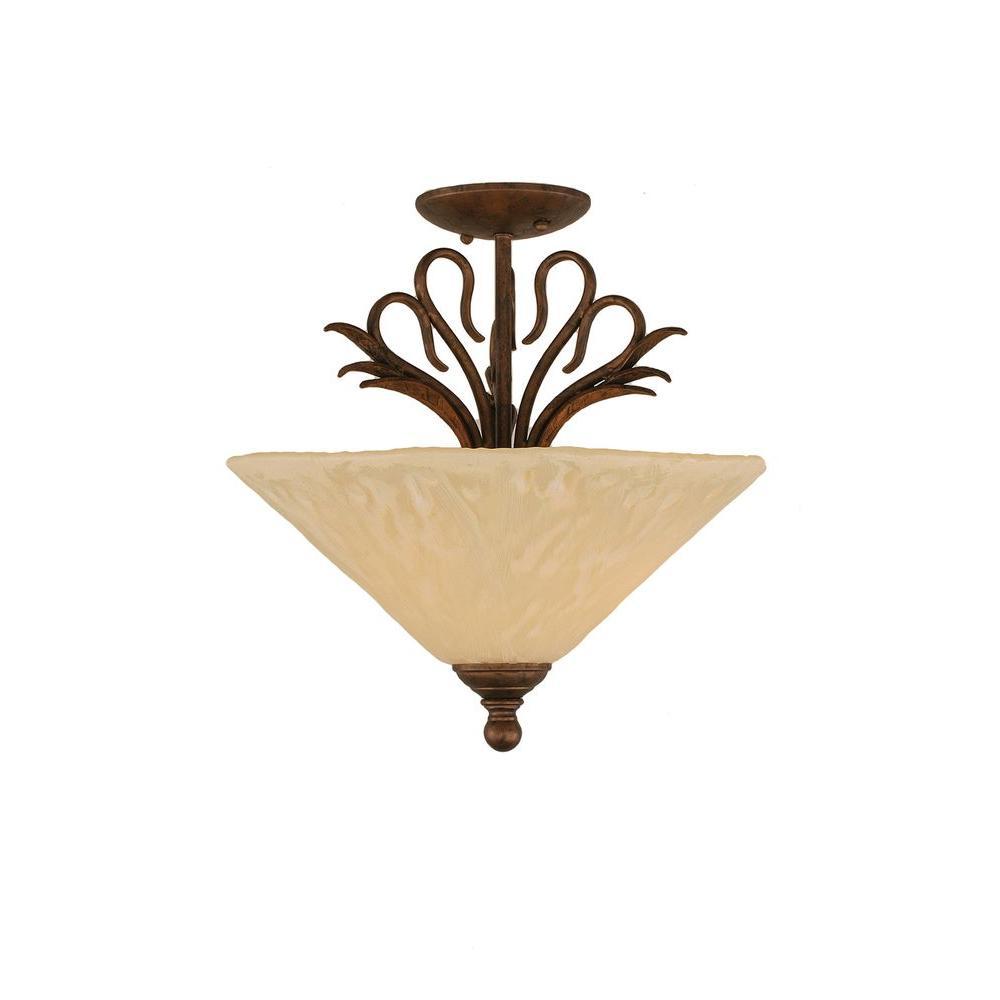 Filament Design Concord 3 Light Ceiling Bronze Incandescent Semi-Flush Mount-DISCONTINUED