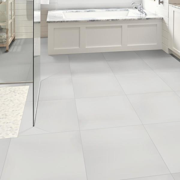Msi White 12 In X 24 In Polished Porcelain Floor And Wall Tile 16 Sq Ft Case Nwhi1224p The Home Depot
