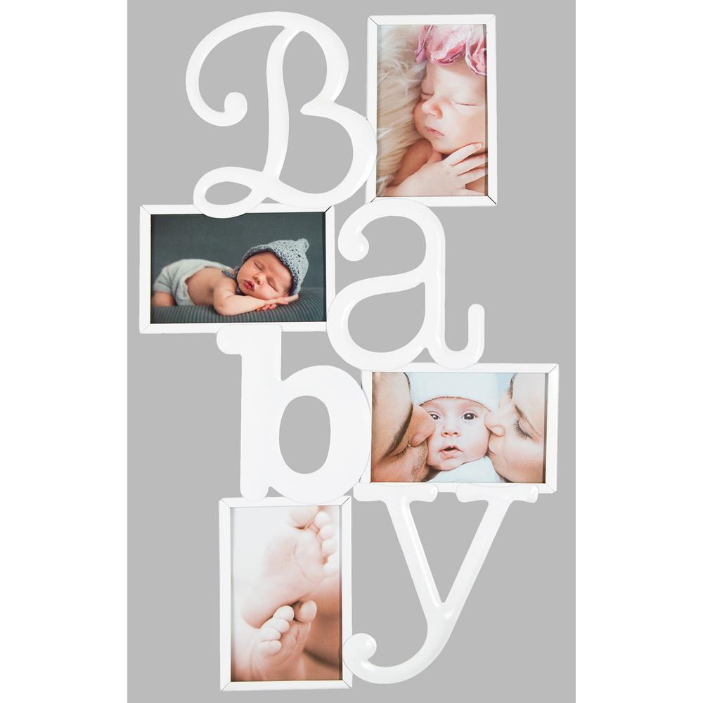4-Opening 4 in. x 6 in. Baby Picture Frame