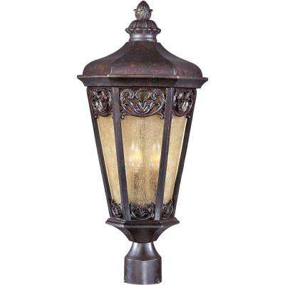 Lexington Vivex 3-Light Colonial Umber Outdoor Pole/Post Mount