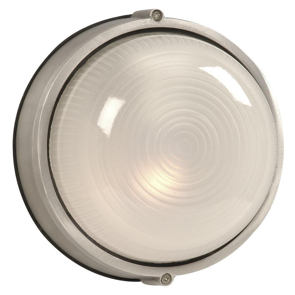 Negron 1-Light Outdoor Satin Aluminum Wall Light