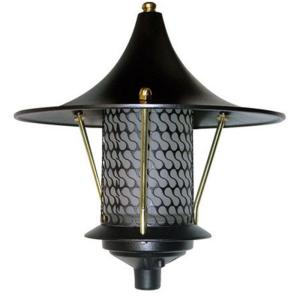 Filament Design Corbin 1-Light Black Flair Top Outdoor Pagoda Pathway Light by Filament Design