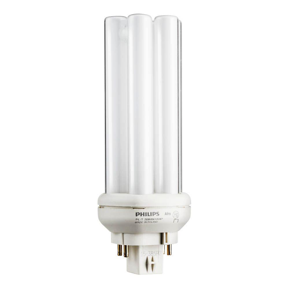 Philips 26w Pl T Amalgam Bright White Gx24q 3 Quad Tube Compact Fluorescent 4 Pin Light Bulb 6