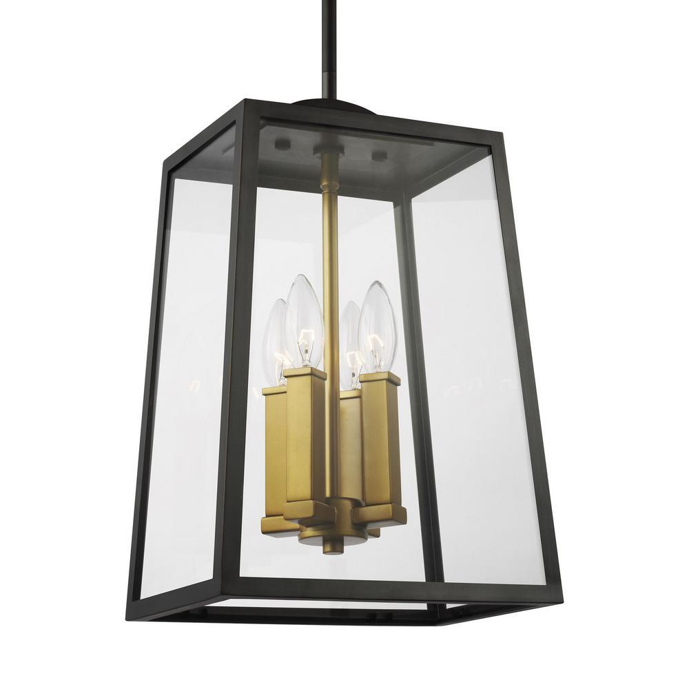 Lindbergh Antique Bronze 4-Light Outdoor Hanging Lantern
