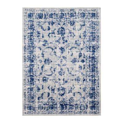 Vintage Gray/Blue 5 ft. x 7 ft. Indoor Area Rug