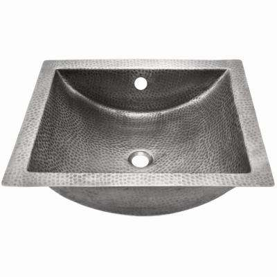 Hammerwerks Series Pewter Undermount 20.5 in. Concave Lavatory Utility Sink