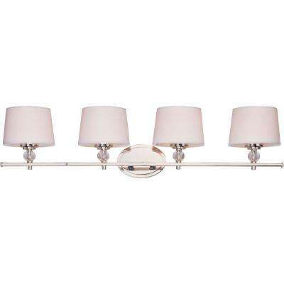 Rondo 4-Light Polished Nickel Bath Vanity Light