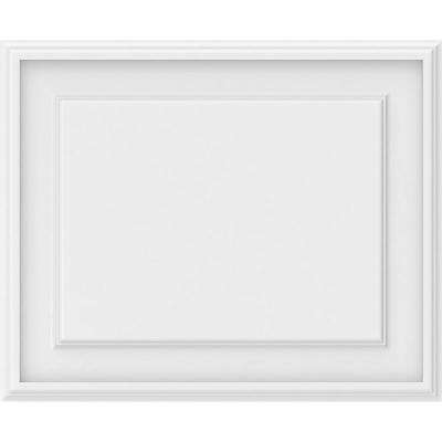 5/8 in. x 2-5/6 ft. x 1-1/2 ft. Legacy Raised Panel White PVC Decorative Wall Panel