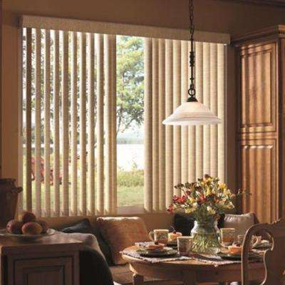 Beige Valance Vertical Blinds Blinds The Home Depot