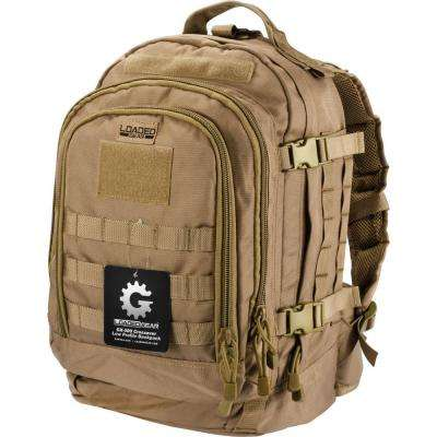 Loaded Gear GX-500 Medium Flat 17.72 in. Dark Earth Ballistic Nylon Crossover Backpack