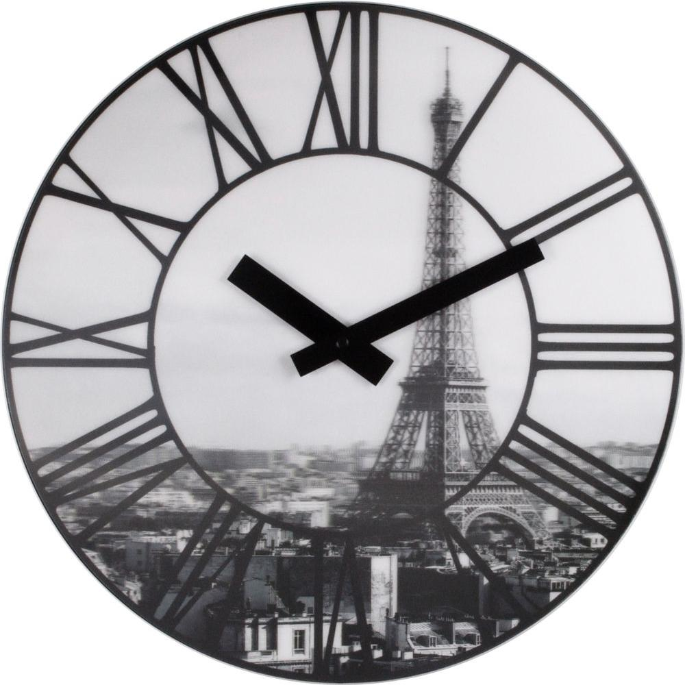 Nextime La Ville 15.5 in. Lentincular Glass Wall Clock-DISCONTINUED