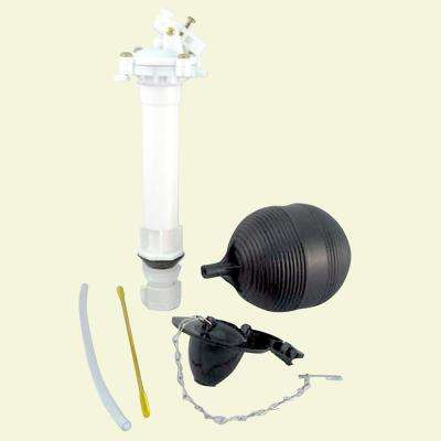 Universal Toilet Repair Kit Ball Cock Fill Valve and Flapper