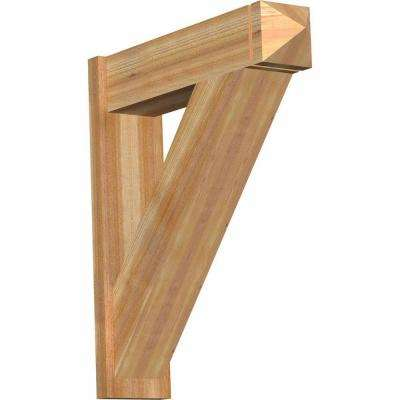 8 in. x 36 in. x 32 in. Western Red Cedar Traditional Arts and Crafts Rough Sawn Outlooker