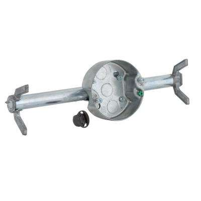 RETRO-BRACE with 4 in. Round Ceiling Rated Pan, 1-1/2 in. Deep with 1/2 in. KO's