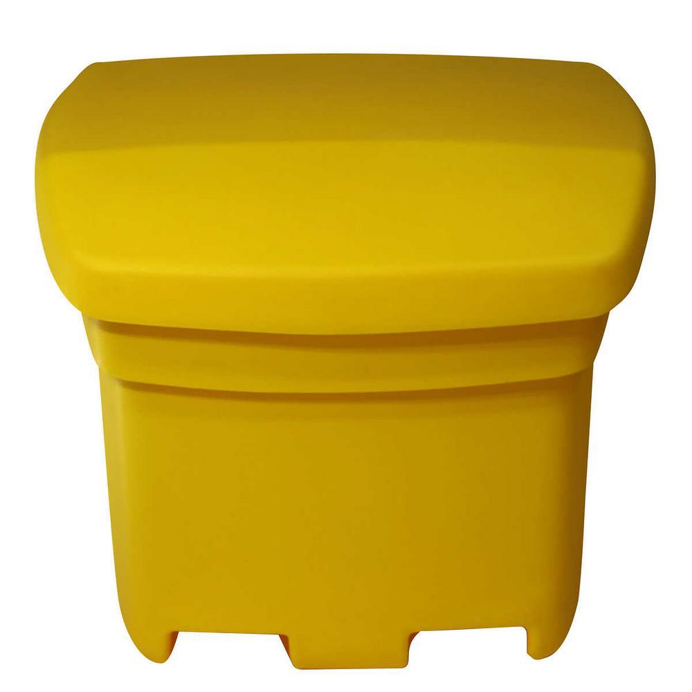 Outdoor Sand and Salt Storage Yellow Bin