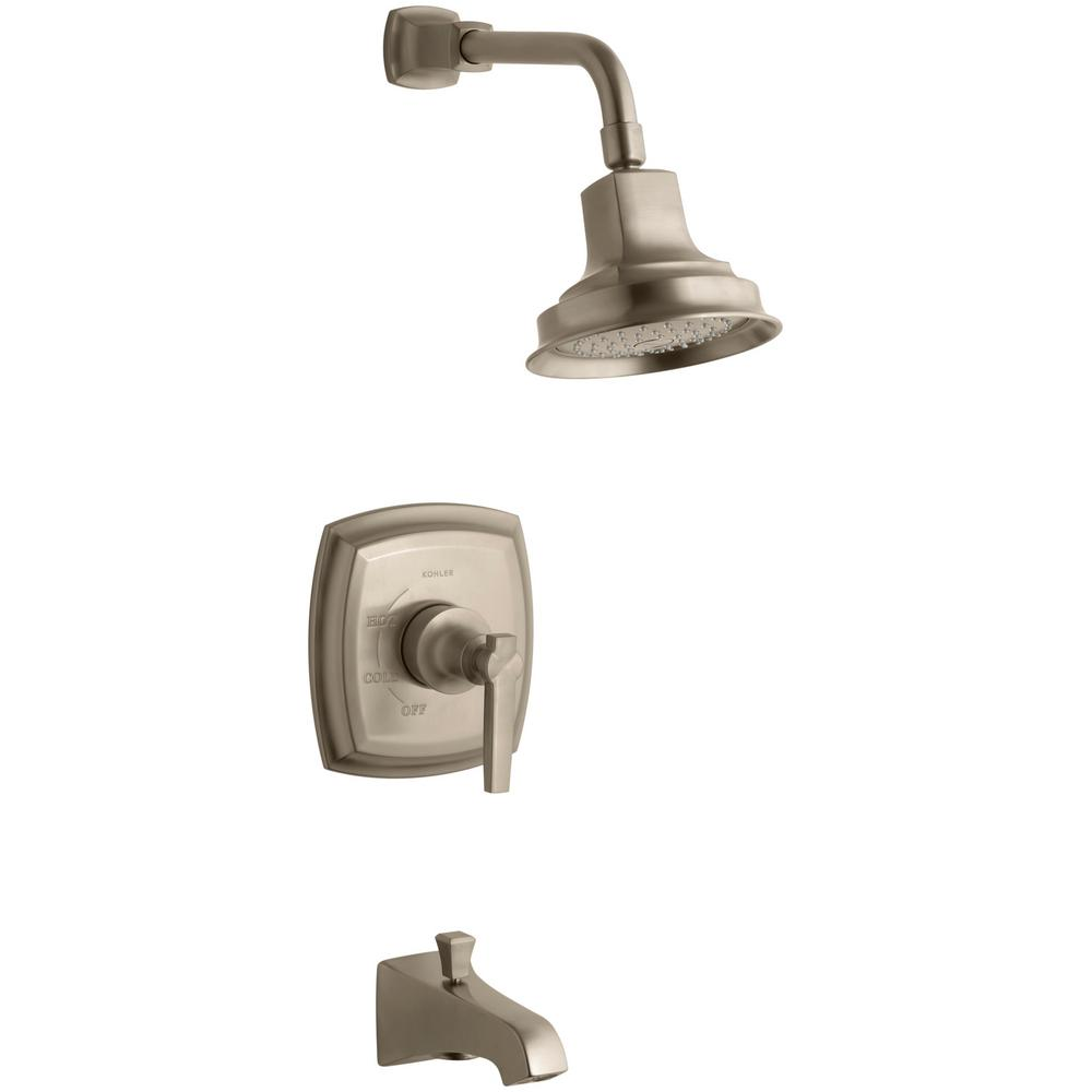 KOHLER Margaux Single-Handle 1-Spray 2.5 GPM Tub and Shower Faucet with Lever Handle in Brushed Bronze