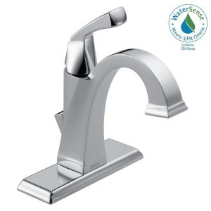 Dryden Single Hole Single-Handle Bathroom Faucet with Metal Drain Assembly in Chrome