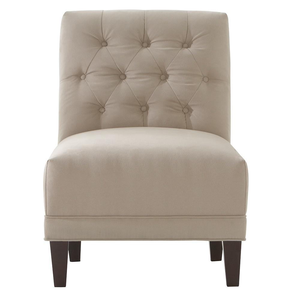 Home Decorators Collection Lakewood Micro Suede Lt. Taupe Tufted Arm Chair