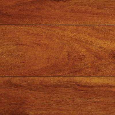 High Gloss Jatoba 8 mm Thick x 5-5/8 in. Wide x 47-3/4 in. Length Laminate Flooring (18.65 sq. ft. / case)