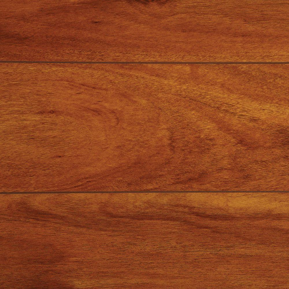 TrafficMaster High Gloss Jatoba 5 mm Thick x 5-5/5 in. Wide x 5-5/5 in.  Length Laminate Flooring (15.5 sq. ft. / case)-HL1055 - The Home Depot