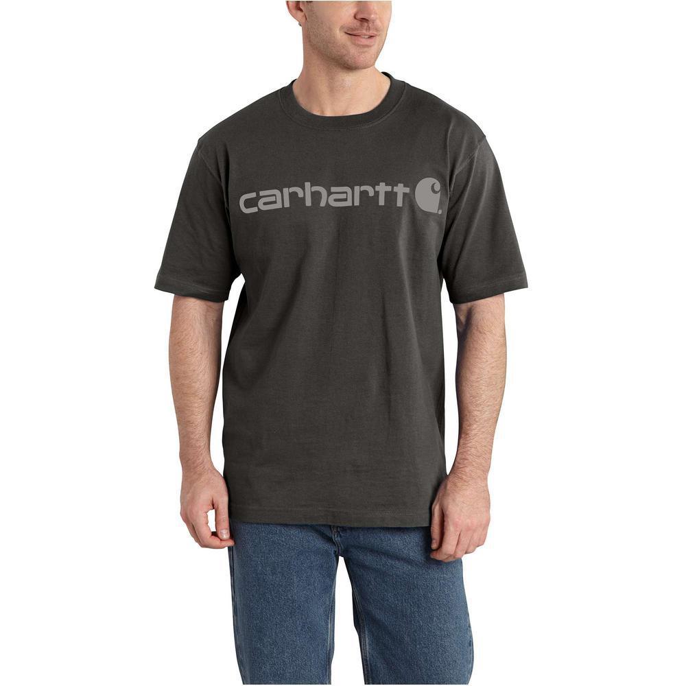 66ae74bcfcb Carhartt Men's Medium Peat Cotton/Graphic Signature Logo Short Sleeve MW  Jersey T-Shirt