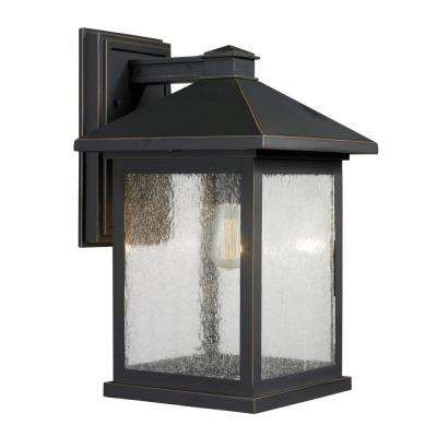 Malone 1-Light Oil-Rubbed Bronze Outdoor Sconce
