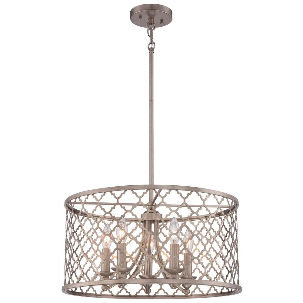 Minka lavery 5 light champagne gold pendant 4165 584 the home depot minka lavery 5 light champagne gold pendant aloadofball Choice Image