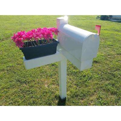 Handy Post Combo White Vinyl Mailbox Post Sleeve