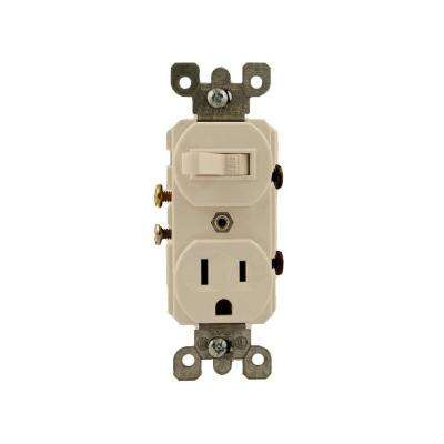 15 Amp Combination Switch/Outlet, White