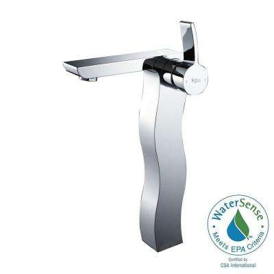 Sonus Single Hole Single-Handle High-Arc Vessel Bathroom Faucet in Chrome