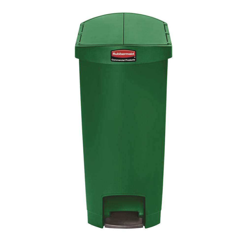 Rubbermaid Commercial S Slim Jim Step On 13 Gal Green Creative Design Gallon Kitchen Trash