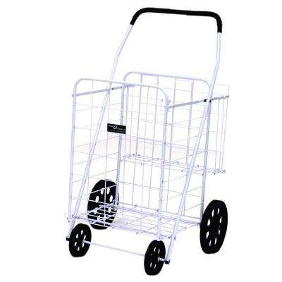 Jumbo Plus Shopping Cart in White