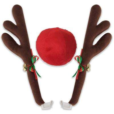 Rudolph Car Decoration Reindeer Antlers & Nose Vehicle Costume