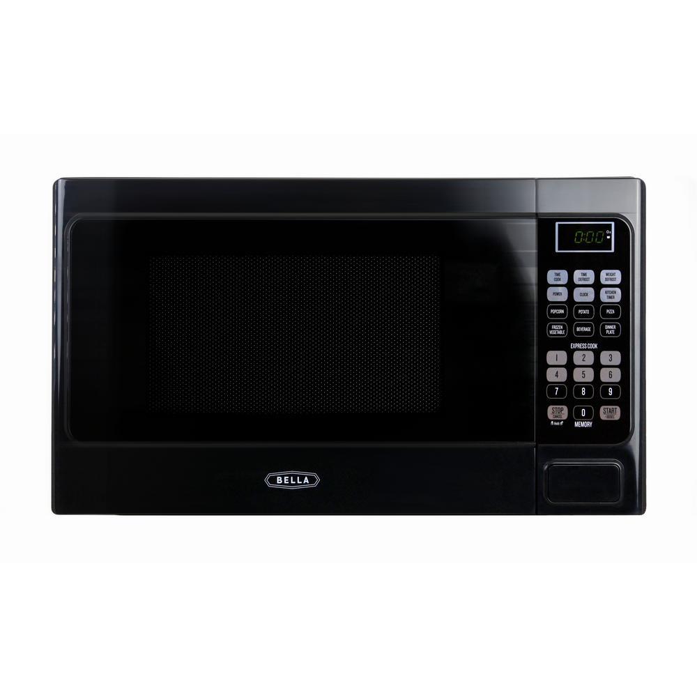Bella 0.7 cu. ft. 700-Watt Compact Countertop Microwave Oven in Black by Bella