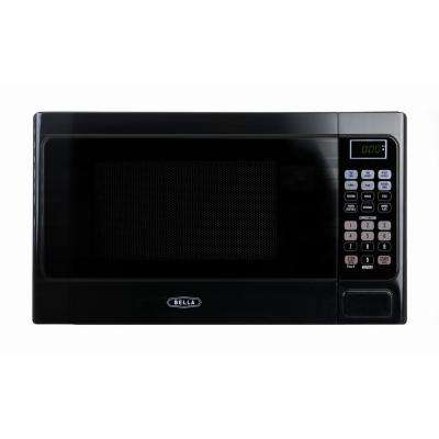 0.7 cu. ft. 700-Watt Compact Countertop Microwave Oven in Black