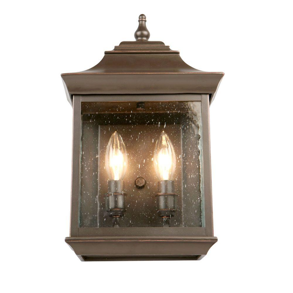 Hampton Bay Interior Foyer Lantern : Hampton bay light oil rubbed bronze outdoor wall lantern