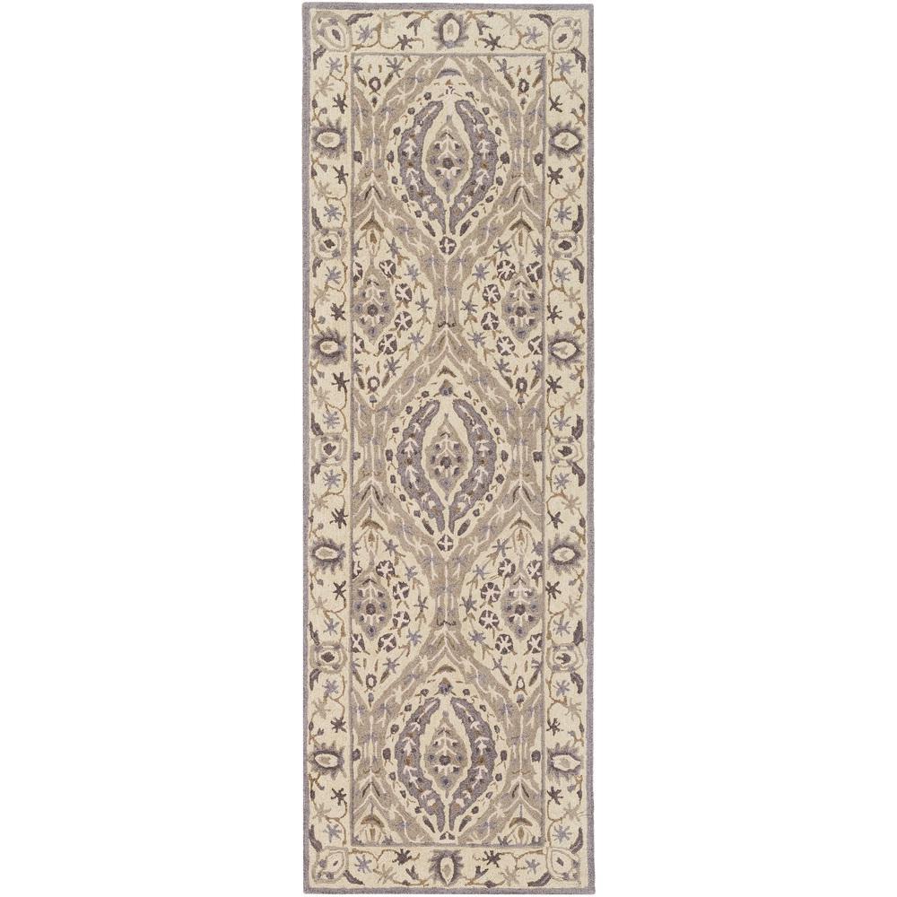 Dark Purple Rugs: Artistic Weavers Korce Dark Purple 2 Ft. 6 In. X 8 Ft