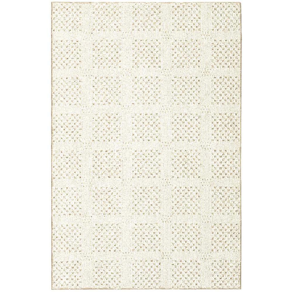 Desert Springs Blanc Custom Rug with Pad