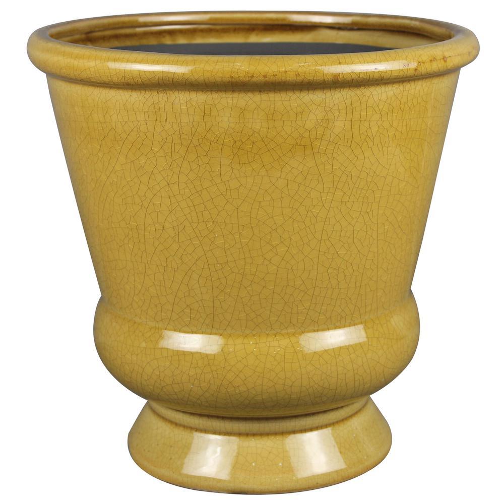 13in. Honey Belleville Ceramic Urn
