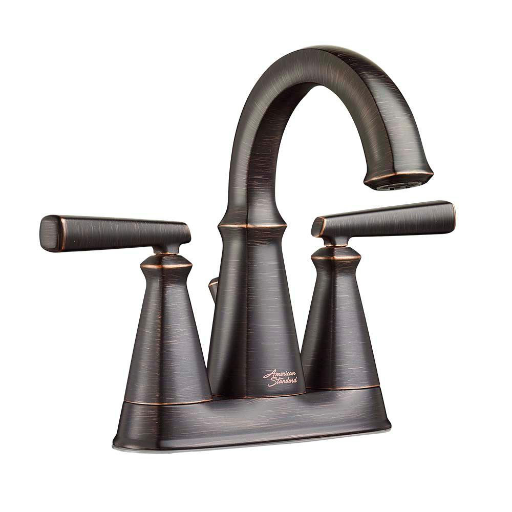 Edgemere 4 in. Centerset 2-Handle Bathroom Faucet with Metal Speed Connect