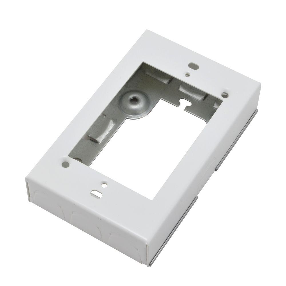 Legrand Wiremold 700 Series Metal Surface Raceway Starter Electrical Box, White