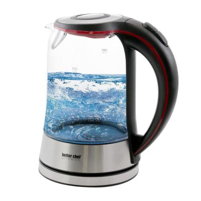 7-Cup Glass and Stainless Steel Cordless Electric Tea Kettle
