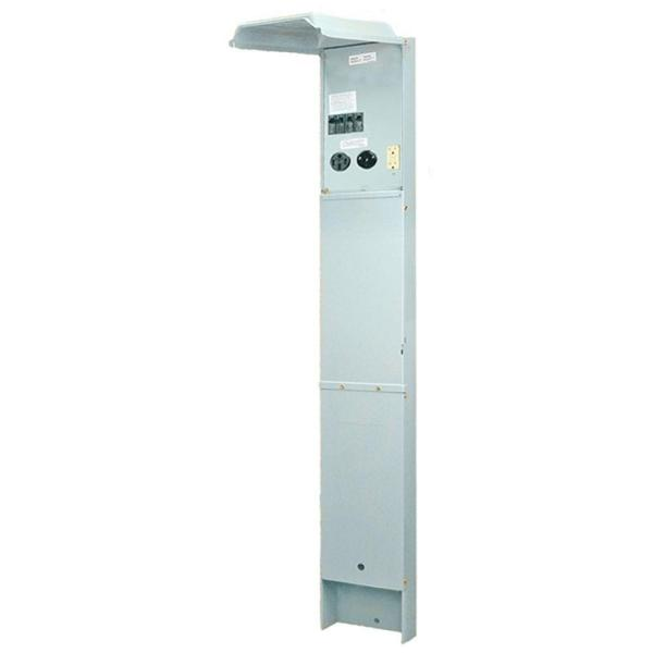RV Earth Burial Pedestal with 50 Amp and 30 Amp RV Receptacles and a 20 Amp GFCI Receptacle